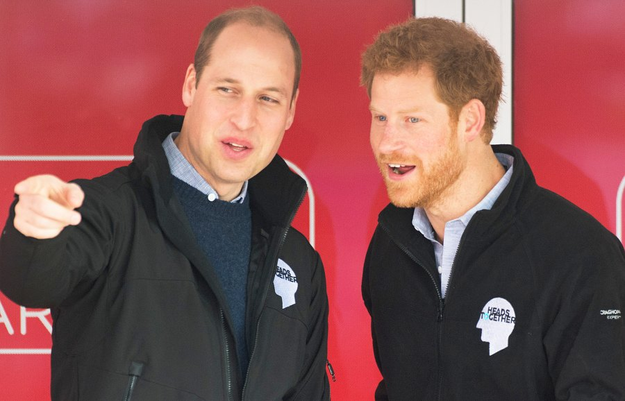 Prince William and Prince Harry officially start the 2017 Virgin Money London Marathon elite men's and mass race on April 23, 2017 in London, England.