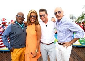 Al Roker, Hoda Kotb, Billy Bush, and Matt Lauer appear on NBC's 'Today' show at the Rio Olympics in 2016.