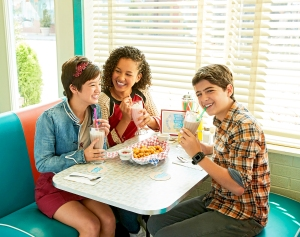 Disney Channel's Andi Mack stars Peyton Elizabeth Lee as Andi Mack, Sofia Wylie as Buffy Discoll and Joshua Rush as Cyrus Goodman