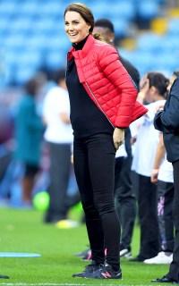 Catherine, Duchess of Cambridge visits Aston Villa Football Club on November 22, 2017 in Birmingham, England.
