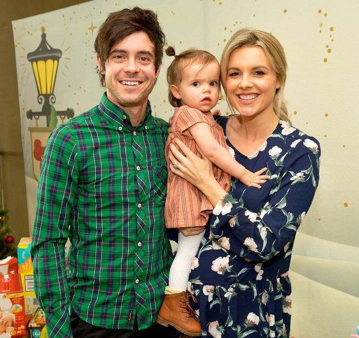 Ali Fedotowsky, Kevin Manno and their daughter Molly at the 7th Annual Santa's Secret Workshop benefiting LA Family Housing at Andaz in West Hollywood, California.