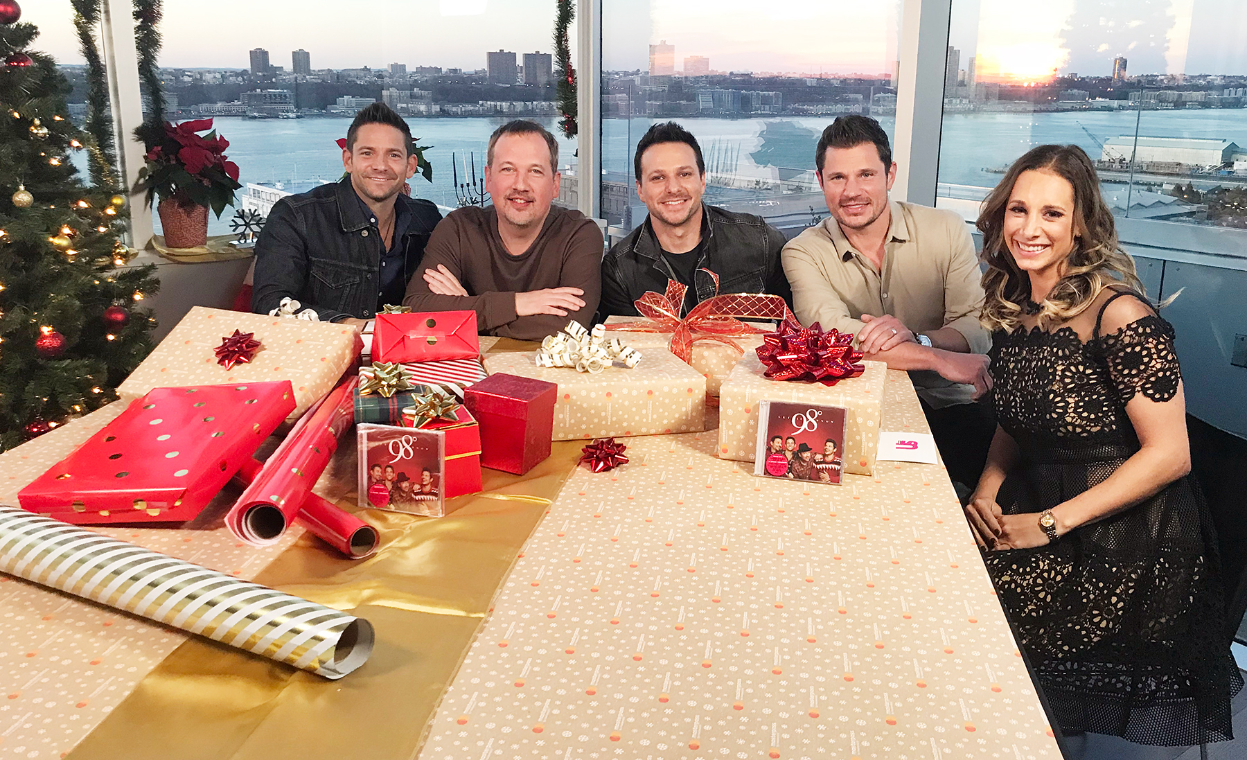 Jeff Timmons, Drew Lachey, Justin Jeffre and Nick Lachey of 98 Degrees