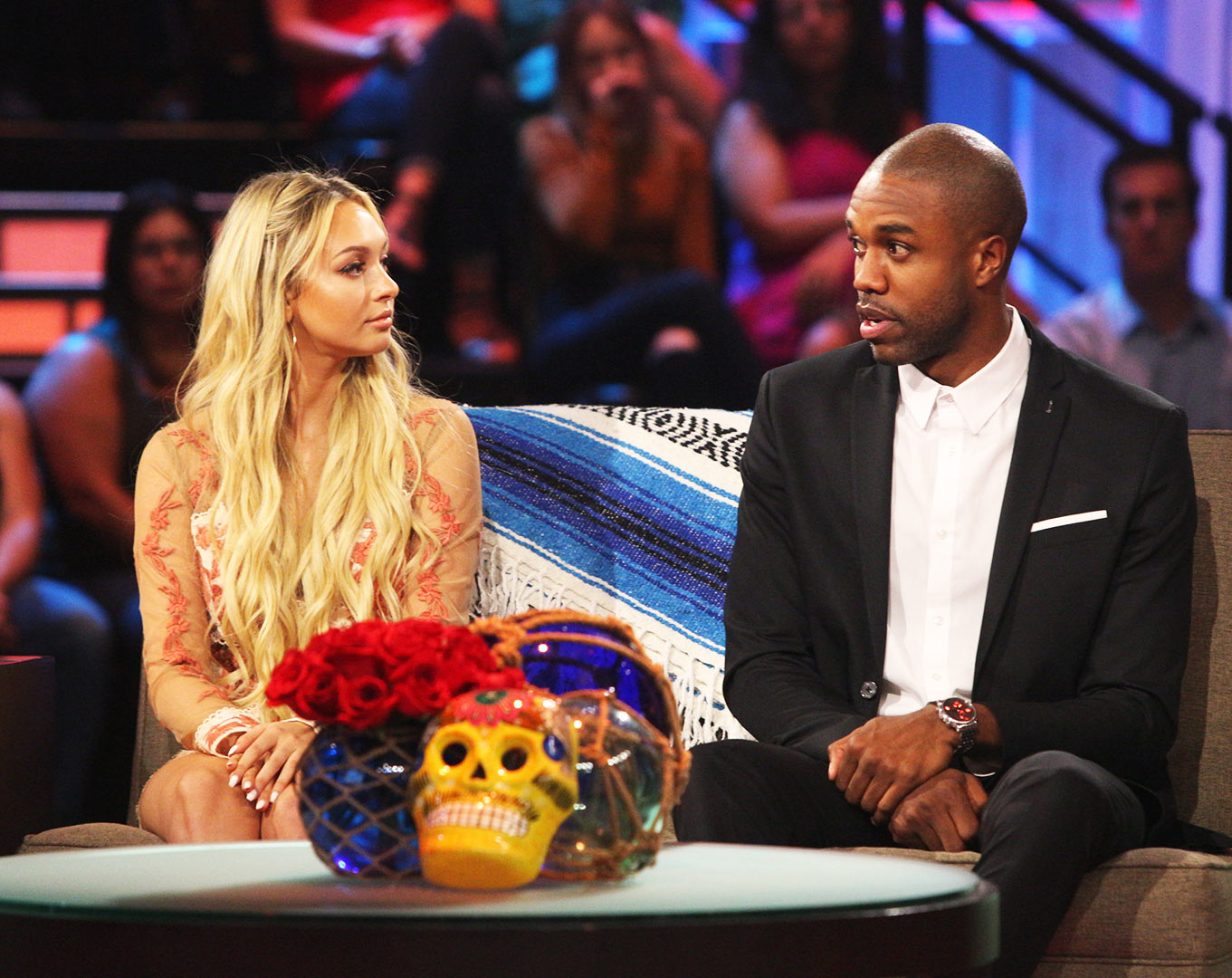 CORINNE OLYMPIOS, DEMARIO JACKSON - Bachelor in Paradise season 3 production shut down in June 2017 days after the cast arrived. A producer filed a sexual misconduct complaint involving Corinne Olympios and DeMario Jackson, and Warner Bros. halted filming in order to investigate.