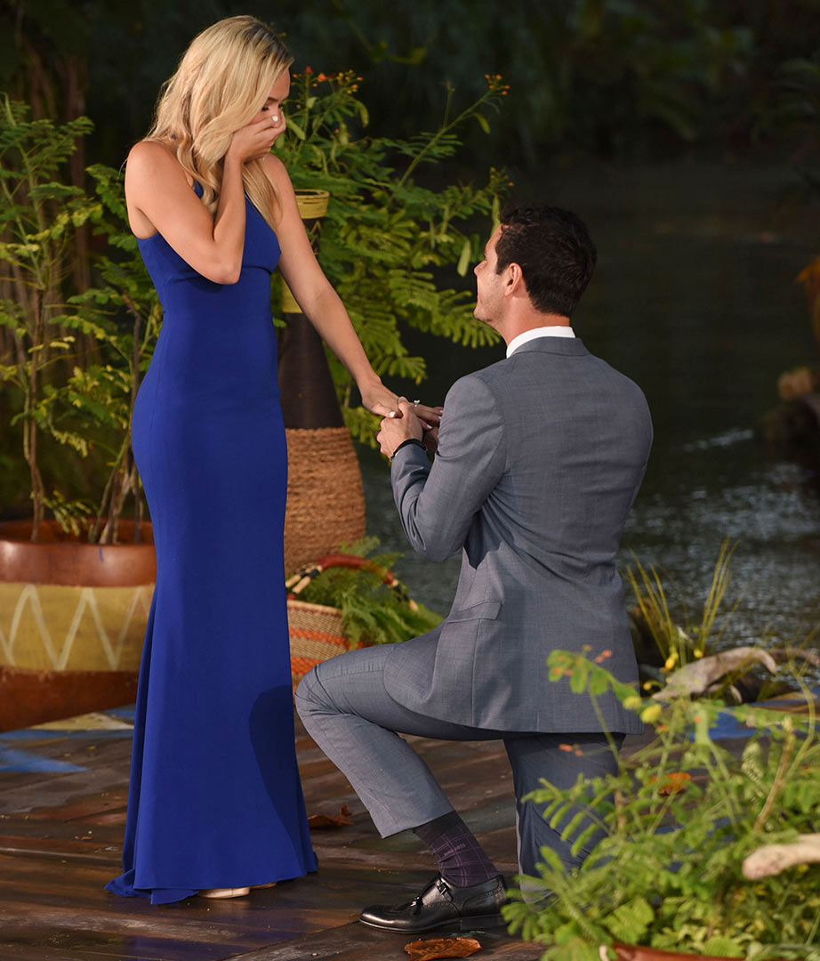 Ben Higgins, Lauren Bushnell - He went where no other lead has gone before! Ben Higgins broke one of The Bachelor 's golden rules when professing his love to both of his final contestants, JoJo Fletcher and Lauren Bushnell, during The Bachelor season 20 finale.