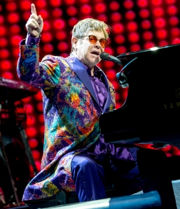 elton-john performs after late mother