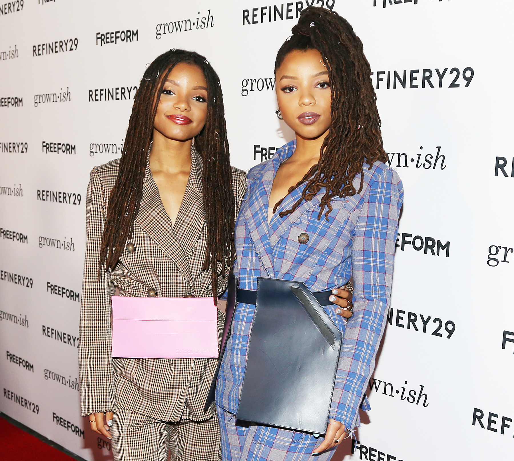 Halle Bailey and Chloe Bailey attend the premiere of Grown-ish