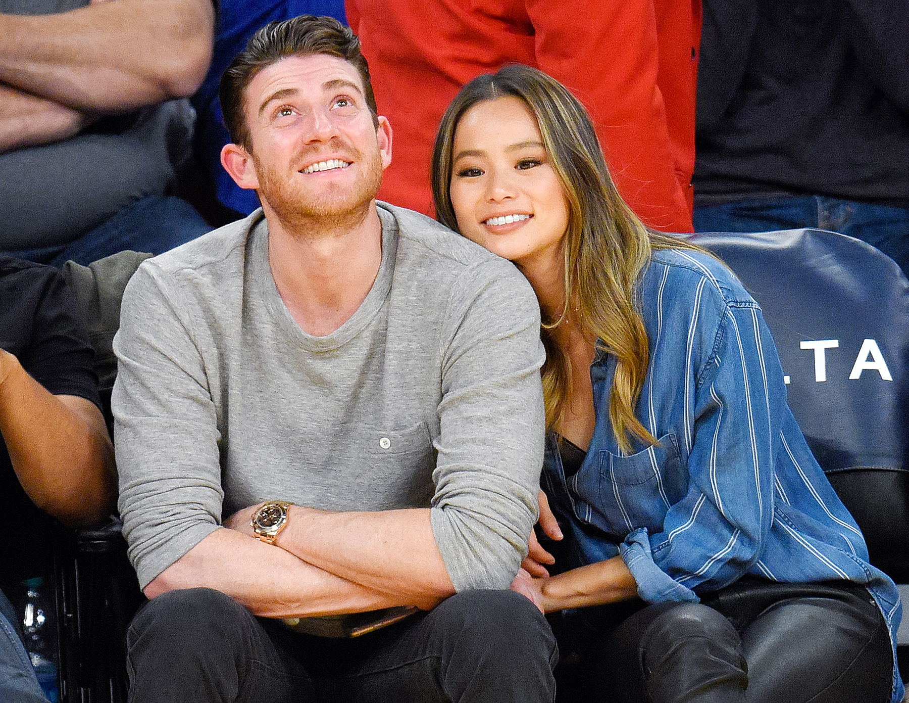 Bryan Greenberg and Jamie Chung attend a basketball game between the New York Knicks and the Los Angeles Lakers at Staples Center on December 11, 2016 in Los Angeles, California.