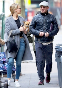 Jennifer Lawrence and Darren Aronofsky spotted together in New York City on December 20, 2017.