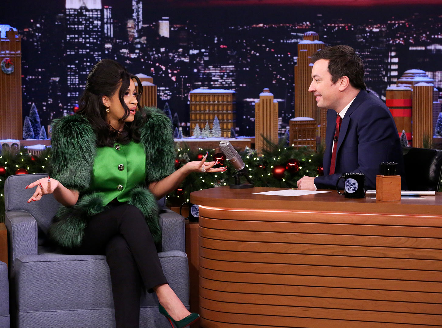Cardi B Cracks Jimmy Fallon Up Explaining Her Name's Origin