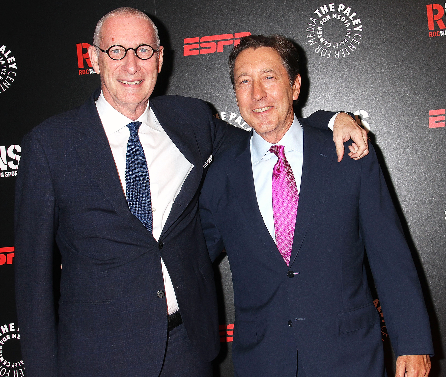 John Skipper and George Bodenheimer attend the The Paley Center for Media 2014 Spring Benefit Dinner