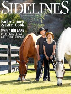 Kaley Cuoco and Karl Cook Sidelines Magazine Cover