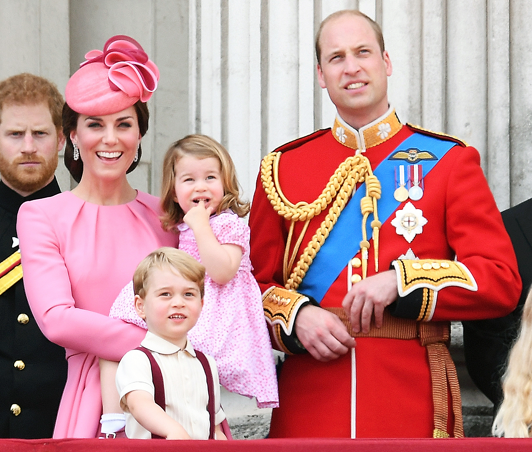 Kate Middleton, Prince George, Princess Charlotte and Prince William