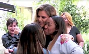 Khloe Kardashian and Malika Haqq on 'Keeping Up With The Kardashians'