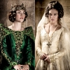 Olivia Ross as Queen Joan and Sabrina Bartlett as Princess Isabella