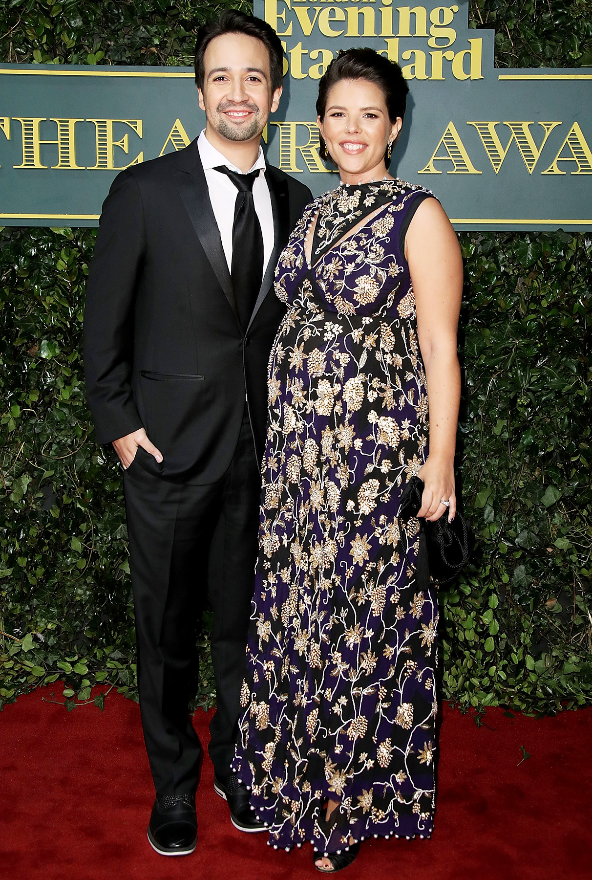 Lin- Manuel Miranda and Vanessa Nadal at London Evening Standard Theatre Awards on Sunday night�s, December 3, 2017