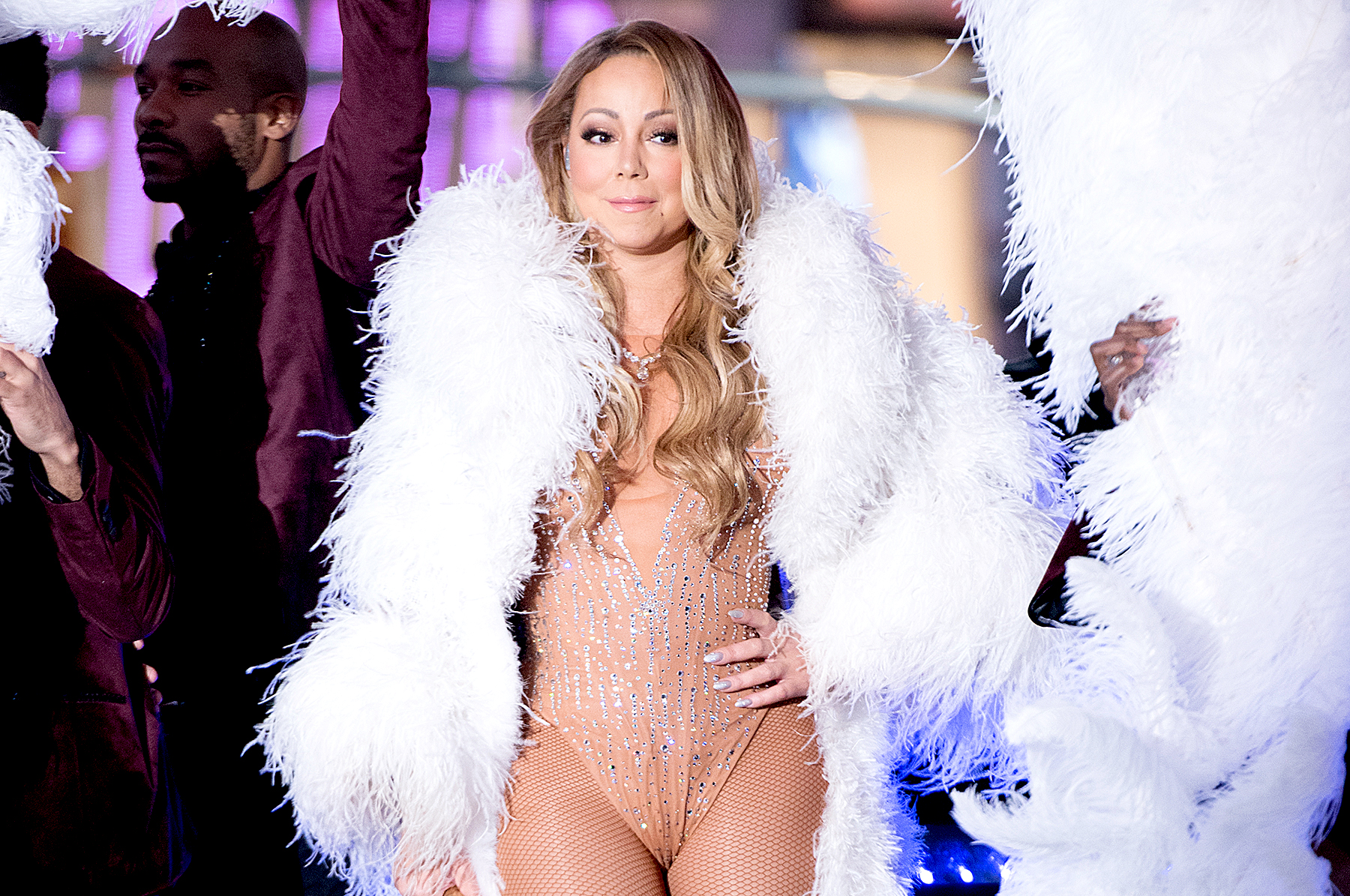 Mariah Carey performs during New Year's Eve 2017 in Times Square