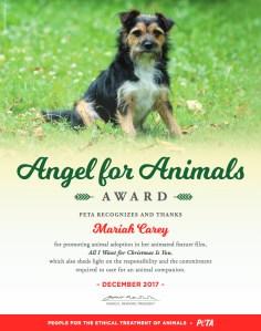 Mariah-Carey-PETA-award
