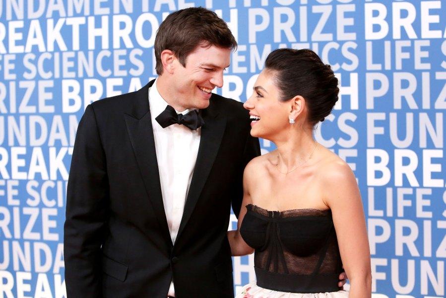 Ashton Kutcher (L) and Mila Kunis