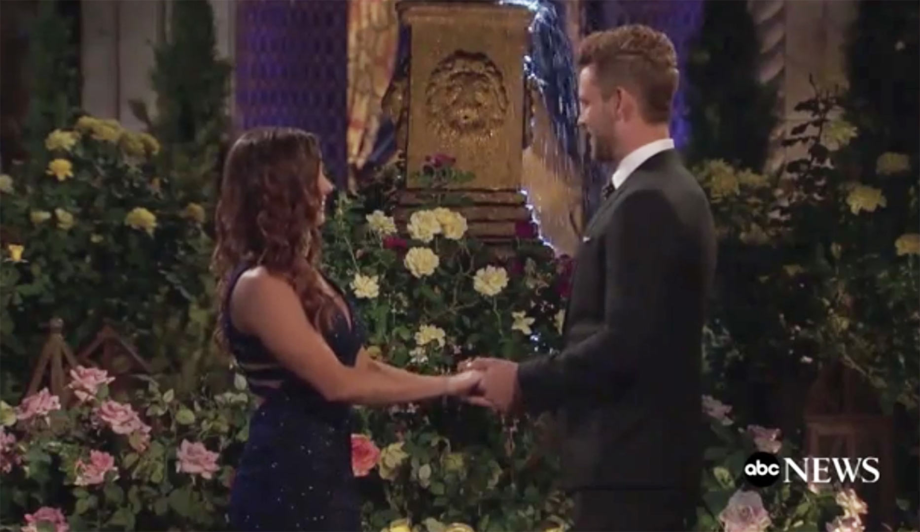 Nick Viall, Liz Sandoz - Liz Sandoz walked out of the limo and into Nick Viall's arms on The Bachelor season 21, but this was not their first introduction. Sandoz, who is best friends with Bachelor Nation favorite Jade Tolbert, revealed on a group date that she and the Wisconsin native, spent the night together at Jade and Tanner Tolbert's wedding in February 2016.