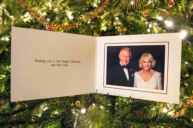 Prince Charles and Wife Camilla, Duchess of Cornwall Release 2017 Christmas Card