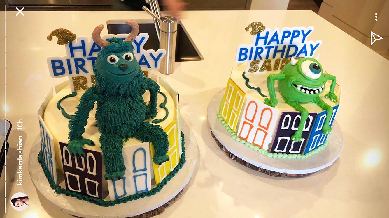 Reign Disick Saint West birthday cakes