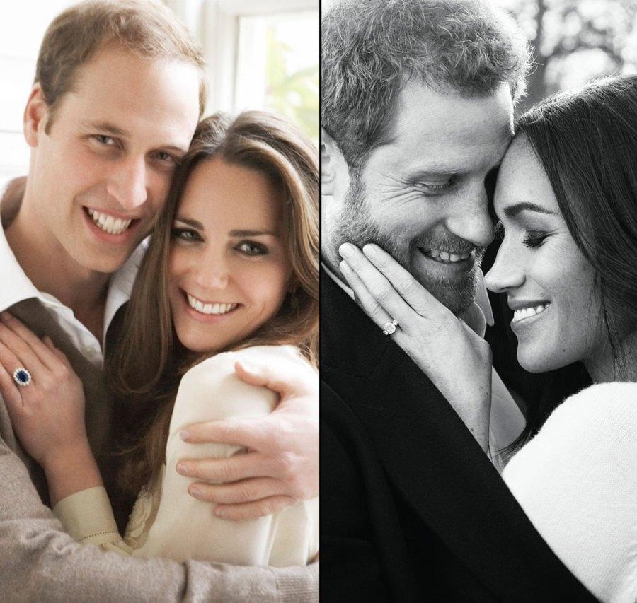 Meghan Markle Kate Middleton Engagement Photo Outfit Comparison