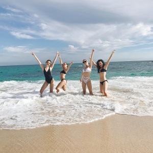 selena gomez grins in cabo san lucas with friends photo