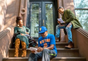 DeWanda Wise, Spike Lee and Cleo Anthony filming 'She's Gotta Have It'