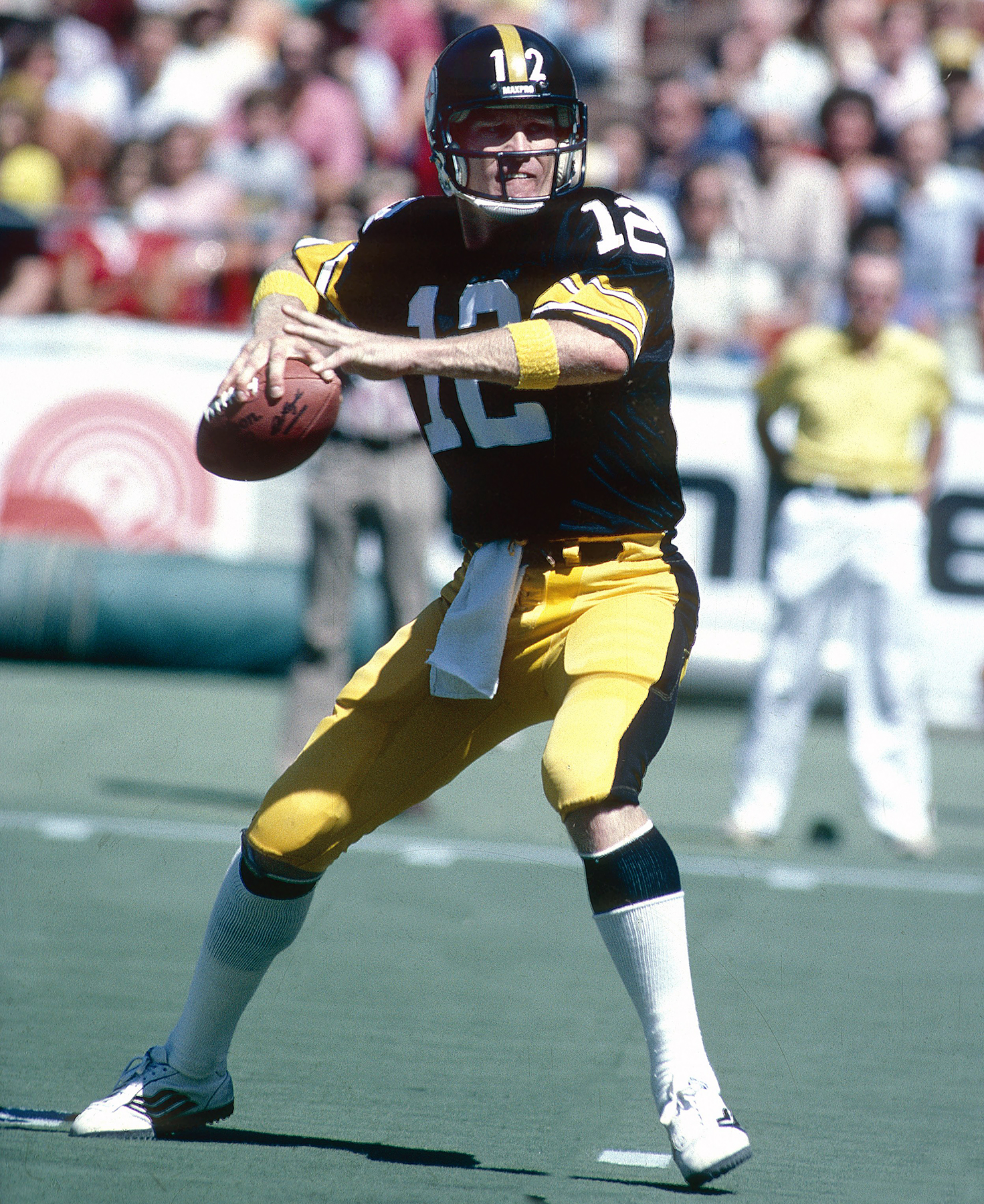 Terry Bradshaw #12 of the Pittsburgh Steelers circa 1970's