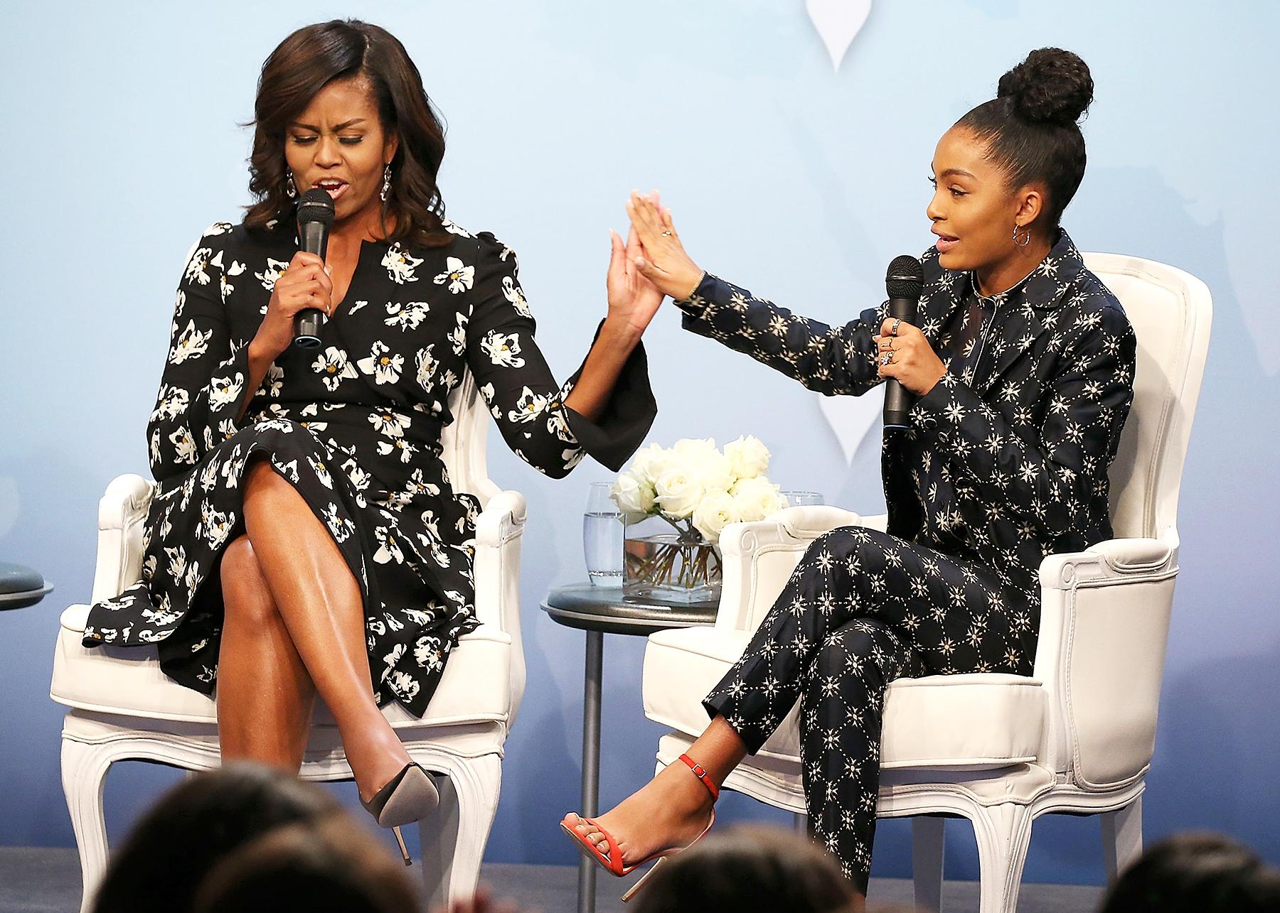 Michelle Obama and Yara Shahidi