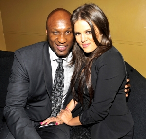 Lamar Odom and Khloe Kardashian attend Casio's Shock the World 2010 event at The Manhattan Center in New York City.