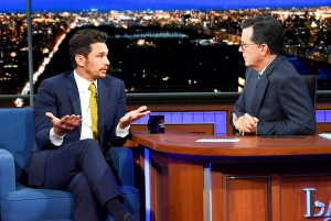 James Franco on 'The Late Show with Stephen Colbert'