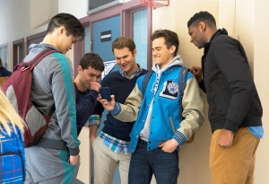 Ross Butler, Justin Prentice, Brandon Flynn and Bryan Box in '13 Reasons Why'