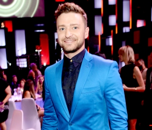 Justin Timberlake attends the 2015 iHeartRadio Music Awards at the Shrine Auditorium in Los Angeles, California.