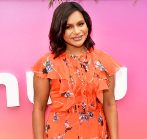 Mindy Kaling attends the Hulu Upfront 2017 Brunch at La Sirena Ristorante in New York City.