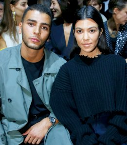 Kourtney Kardashian and Younes Bendjima attend the Haider Ackermann show as part of the Paris Fashion Week Womenswear Spring/Summer 2018 in Paris, France.