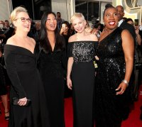 Meryl Streep, Ai-jen Poo, Michelle Williams and Tarana Burke arrive to the 75th Annual Golden Globe Awards held at the Beverly Hilton Hotel on January 7, 2018.