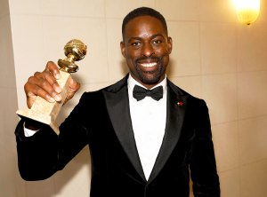 Sterling K. Brown attends the 75th Annual Golden Globe Awards held at the Beverly Hilton Hotel on January 7, 2018.