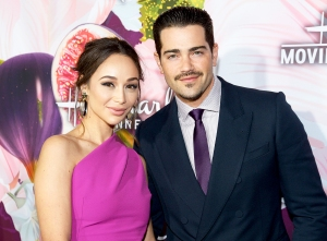 Cara Santana and Jesse Metcalfe attend Hallmark Channel And Hallmark Movies and Mysteries Winter 2018 TCA Press Tour at Tournament House in Pasadena, California.