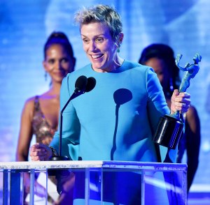 Frances McDormand during the 24th Annual Screen Actors Guild Awards at The Shrine Auditorium on January 21, 2018 in Los Angeles, California.