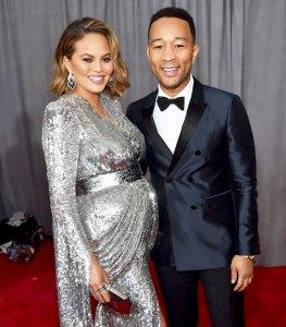 Chrissy Teigen y John Legend asistir a los 60 Anual de los Premios Grammy en el Madison Square Garden el 28 de enero de 2018 en la Ciudad de Nueva York.
