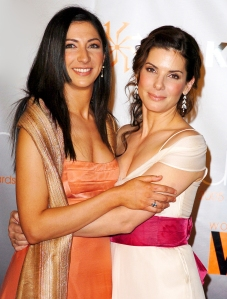 Gesine Bullock-Prado and Sandra Bullock attend 2005 Crystal & Lucy Awards in Beverly Hills, California.