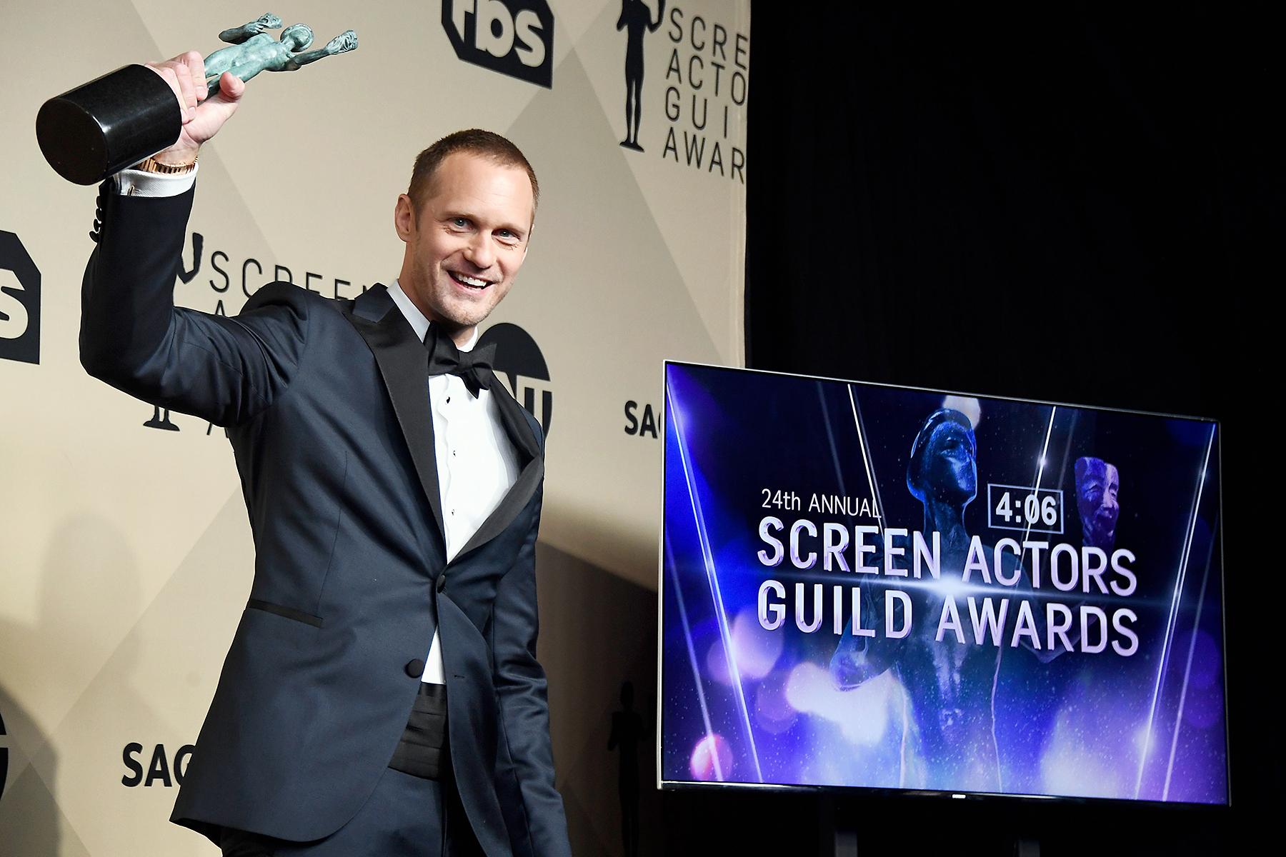 Alexander Skarsgard winner SAGs 2018
