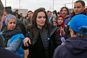 Angelina Jolie, Jordan, Za'atari Refugee Camp