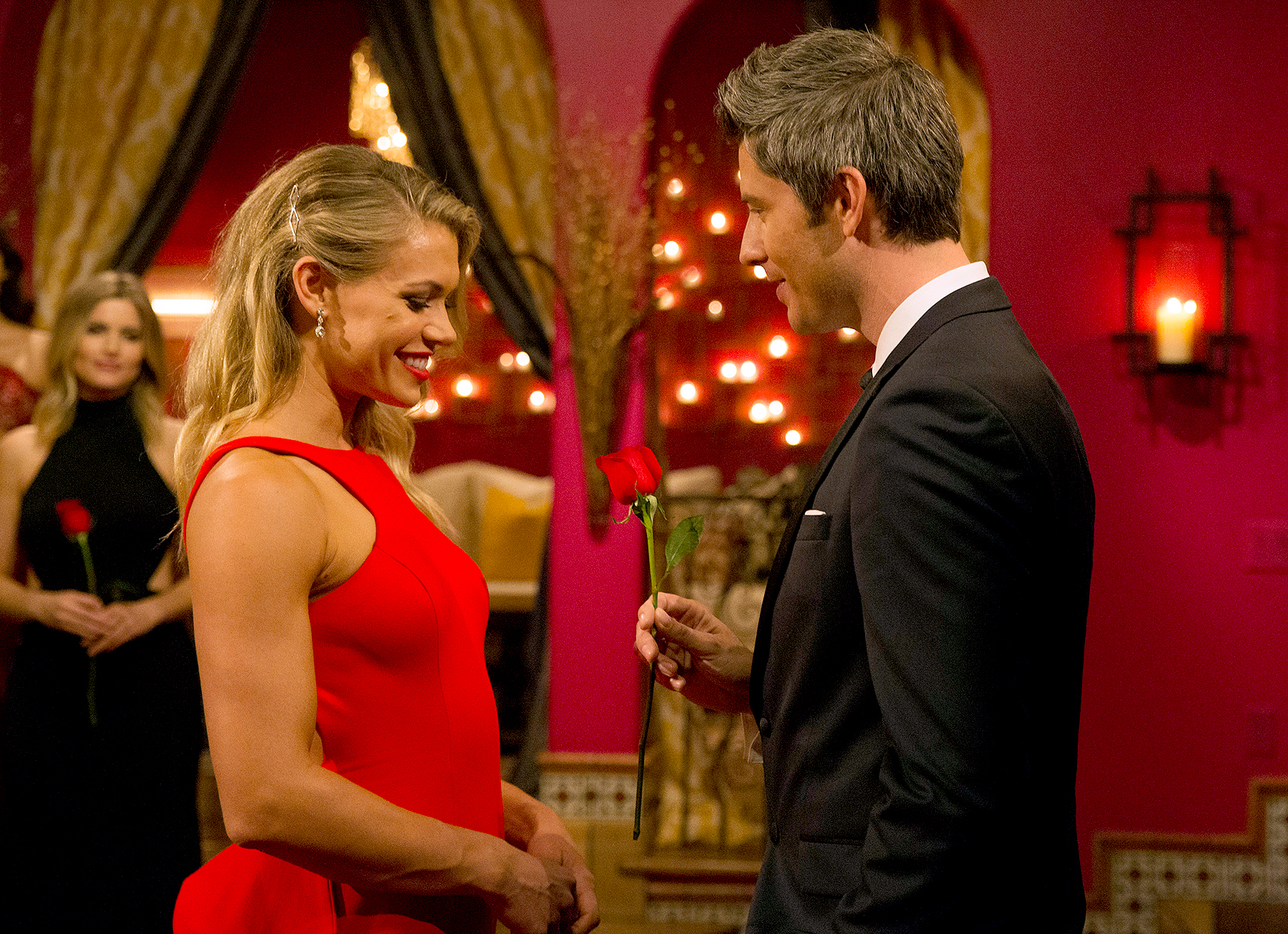 Arie Luyendyuk and Krystal Neilson in The Bachelor