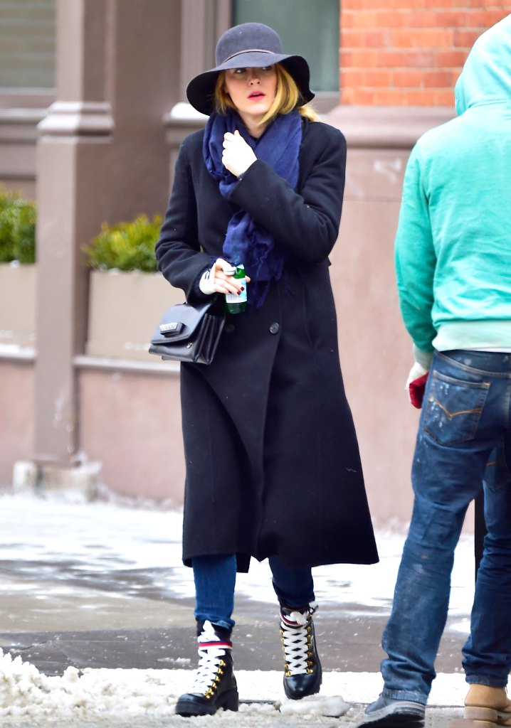 Blake Lively Wears Gucci Hiking Boots As Snow Boot Alternative