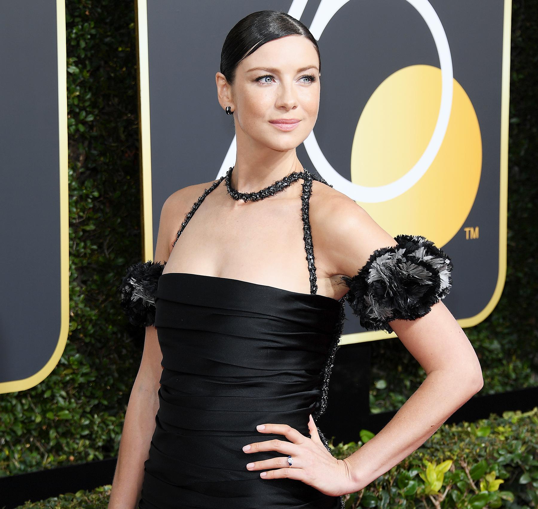 Caitriona Balfe Golden Globes 2018 engaged