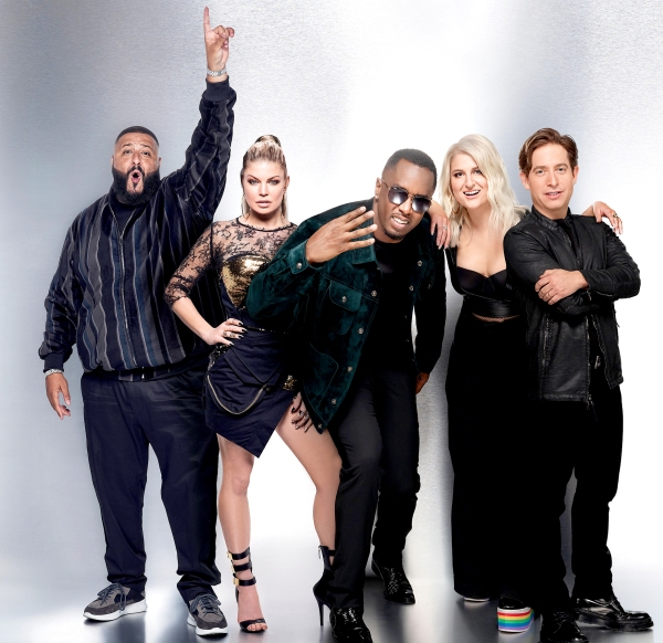 DJ Khalid, Fergie, Sean Diddy Combs, Meghan Trainor and Charlie Walk of Fox's The Four