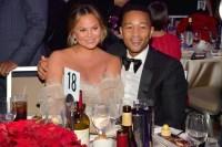 Chrissy Teigen, John Legend, Clive Davis, Recording Academy, Pre-Grammy Gala