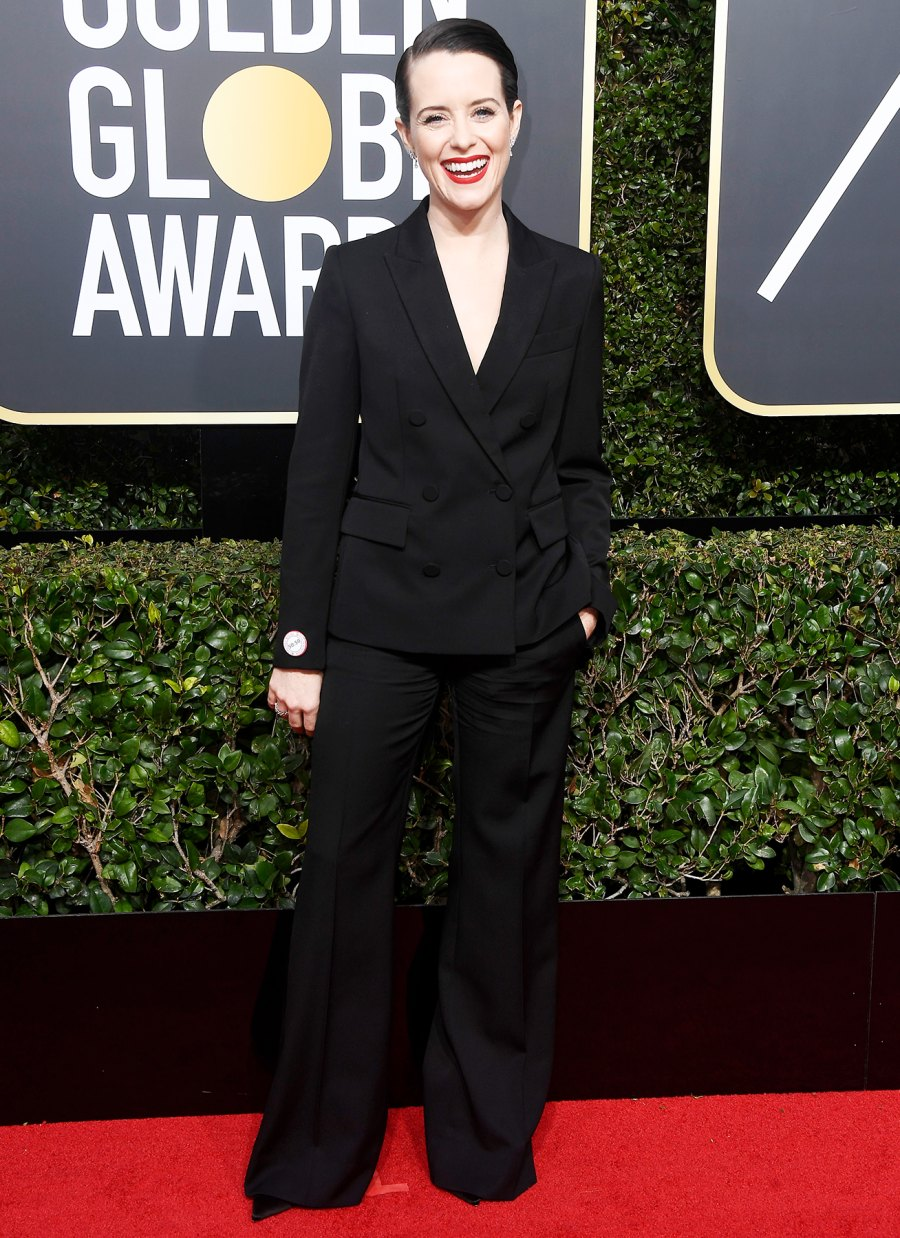 Claire Foy Stars Wearing Pants Golden Globes 2018